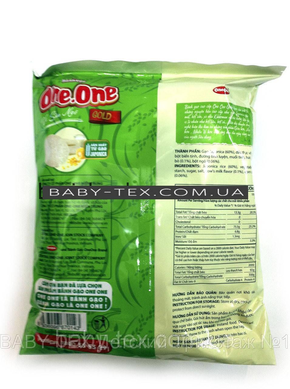 Рисовое печенье One-One Gold с молоком и кукурузой 122г. (Вьетнам)