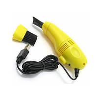 Мини USB пылесос с подсветкой для клавиатуры компьютера   портативный юсб пылесос для клавиатуры, фото 1