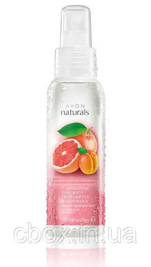 """Лосьон-спрей для тела розовый грейпфрут и абрикос """"Средиземноморские приключения"""" Avon Naturals, Эйвон, 59773"""