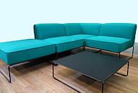Модульный диван и столик для улицы Диас поролон зеленый