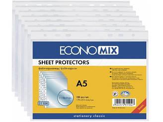 Файл для документов А5 Economix, 30 мкм, (100 шт / уп) E31104
