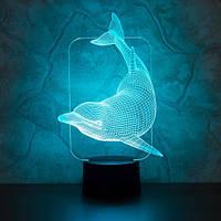 Настольный электрический светильник с 3D эффектом | 3D ночник с объемным оптическим эффектом