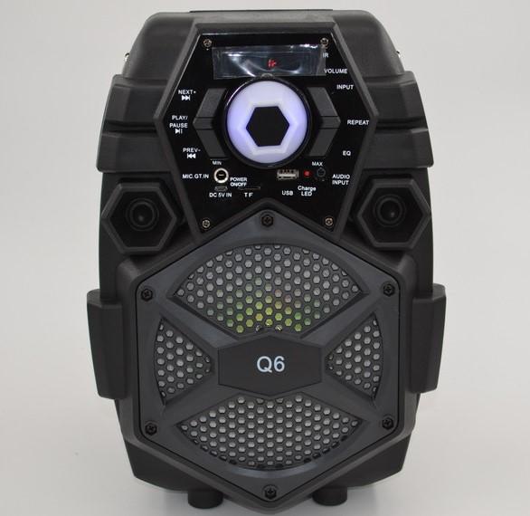 Беспроводная портативная bluetooth колонка - чемодан Q6 | профессиональная акустическая мощная колонка