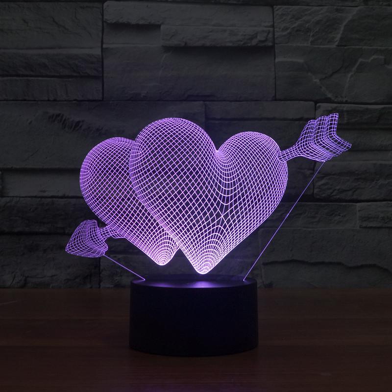 Настольный электрический светильник с 3D эффектом   3D ночник с объемным оптическим эффектом