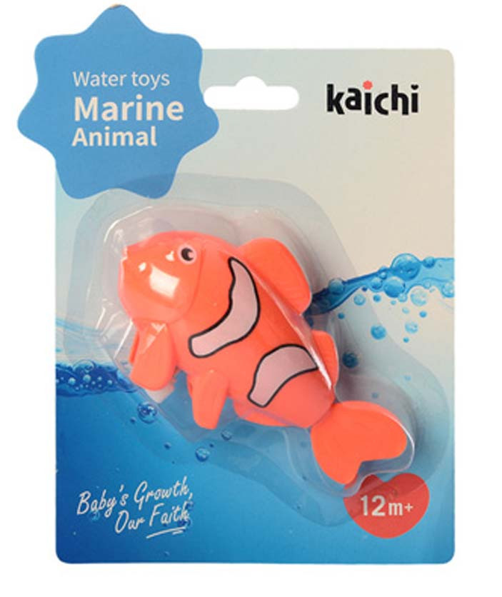 Водоплавающая игрушка K999-209-1 (Лягушка) заводная, на листе, 15-20-4см (Рыбка Оранжевая)