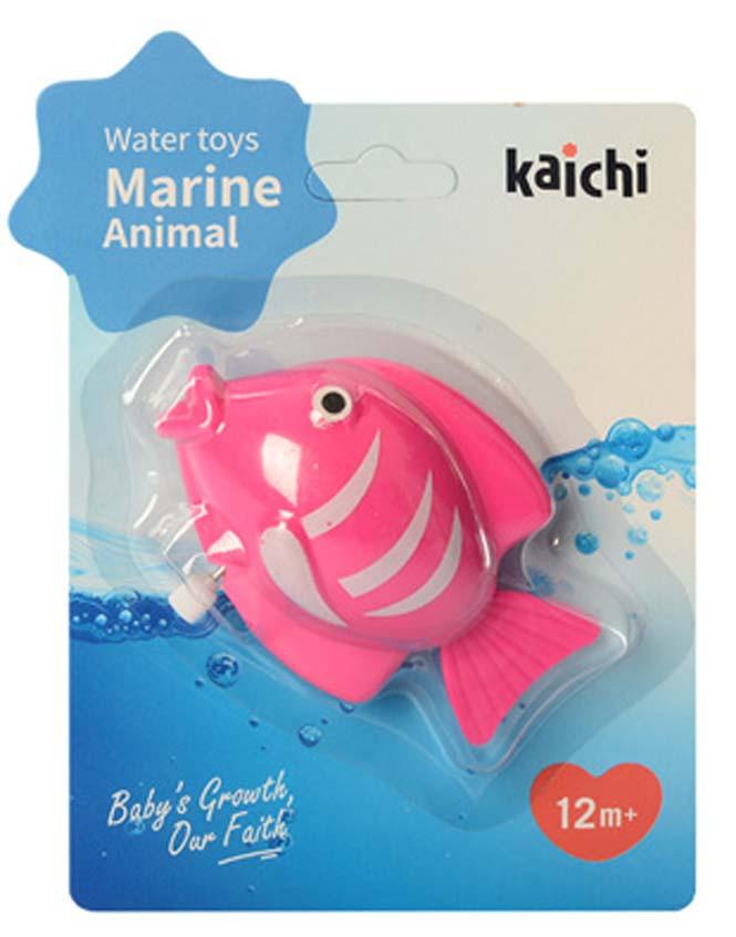 Водоплавающая игрушка K999-209-1 (Лягушка) заводная, на листе, 15-20-4см (Рыбка Розовая)