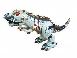Динозавр SS858(Grey) Серый р/у, аккум,43см, зв, св, ходит, танцует,USBзарядн,в кор-ке, 33-30-16,5см (Белый)