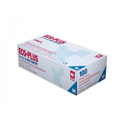 Перчатки виниловые одноразовые ECO PLUS без пудры. Ampri