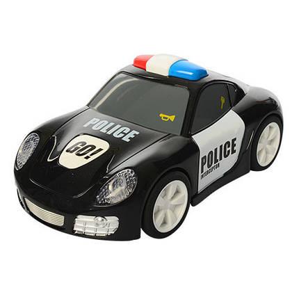 Машинка 6106A полиция, 16,5см,ездит, звук,свет,рез.колеса,на бат-кев кор-ке,19,5-15,5-11см, фото 2