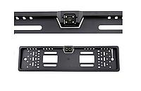 Камера заднего вида рамка 16LED Black с подсветкой в рамке номерного знака, фото 1