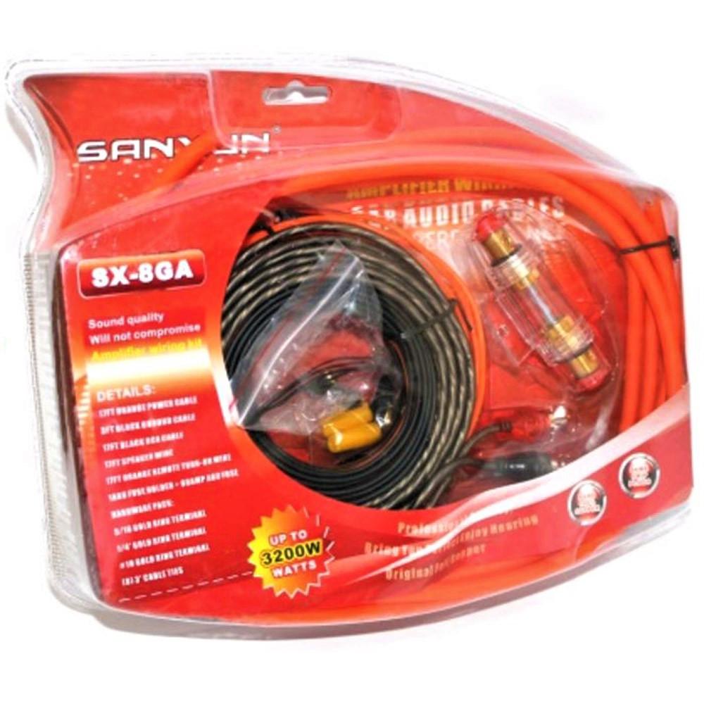 Комплект проводов для сабвуфера SX8GA   провода для подключения усилителя для сабвуфера