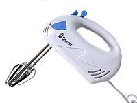 Ручной кухонный миксер Domotec MS-1355 7 скоростей, 2 вида венчиков | белый миксер Домотек