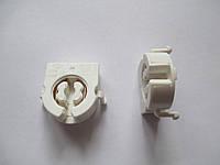 Патрон, ламподержатель для люминесцентных (LED) ламп Т8 G13 торцевой под защелку простой