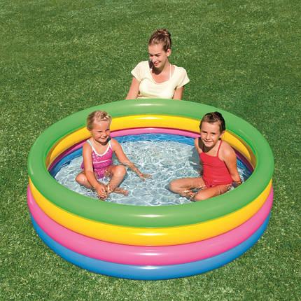 BW Бассейн 51117 детский, надувной, круглый, 157-46 см, 4 кольца, в кор-ке, фото 2
