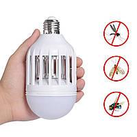 Светодиодная противомоскитная лампа 2 в 1 Zapp Light | лампочка уничтожитель комаров, фото 1