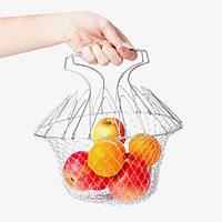 Складной дуршлаг Magic Kitchen Deluxe Chef Basket   складная решетка для сушки , фото 1