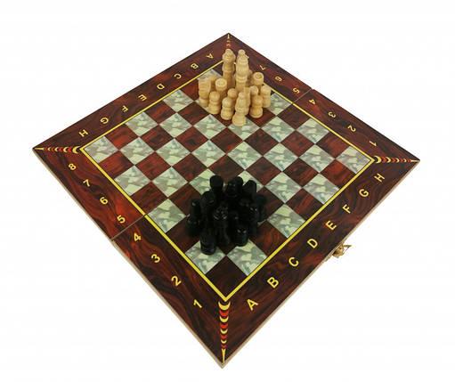 Шахматы 28A 3в1(шашки,нарды), в кульке, 27,5-14-3,5см                               (C), фото 2