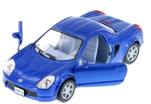 Машинка KT5026W (Toyota MR2) металл,инер-я,10-4-5,5см,откр.дв,рез.колеса,4цвета,в кор-ке,12,5-12-6см, фото 2