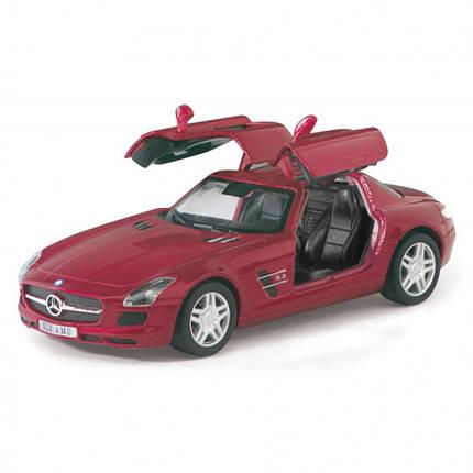 Машинка KT5349W (Mercedes-Benz SLS AMG) металл, инер-я, 12,5см, 1:36, 4цвета, в кор-ке, 16-7,5-8см, фото 2