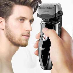 Триммер для бороды Kemei KM- 8009 | аккумуляторная мужская бритва | электробритва