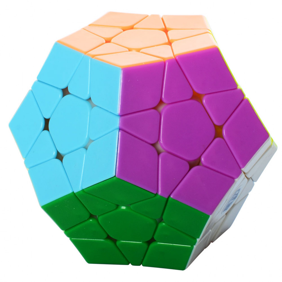 Кубик 0934C-1 QiYi X-Man Megaminx (Plane Stickerless)  8см, в кор-ке, 9,5-7,5-13,5см