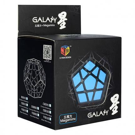 Кубик 0934C-3 QiYi X-Man Megaminx (Plane Black-Base)  8см, в кор-ке, 9,5-7,5-13,5см, фото 2