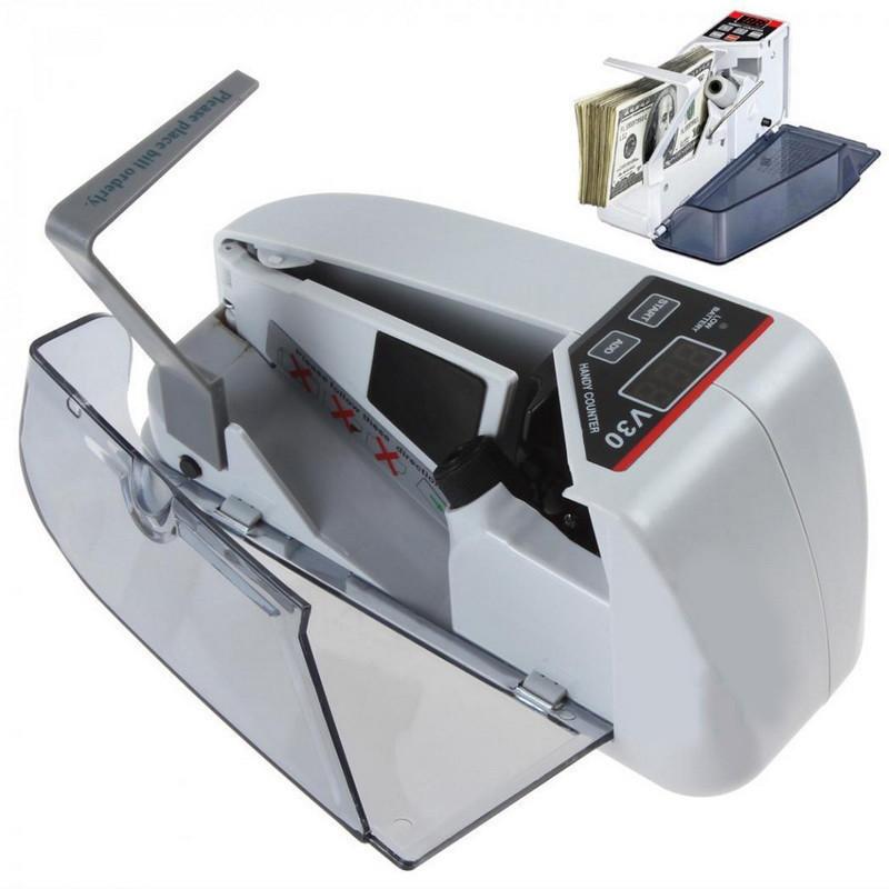 Счетная ручная машинка UKC V30 (работает от сети и от батареек) | машинка для счета денег | аппарат для счета