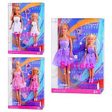 Кукла DEFA 8126, 3 вида, с дочкой, аксессуары, в слюде, 32,5-22-6см
