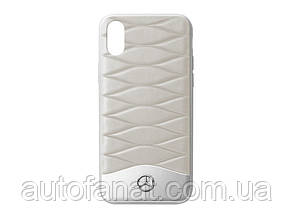 Оригинальный кожаный чехол для iPhone® X Mercedes Cover for iPhone® X, Grey (B66958601)