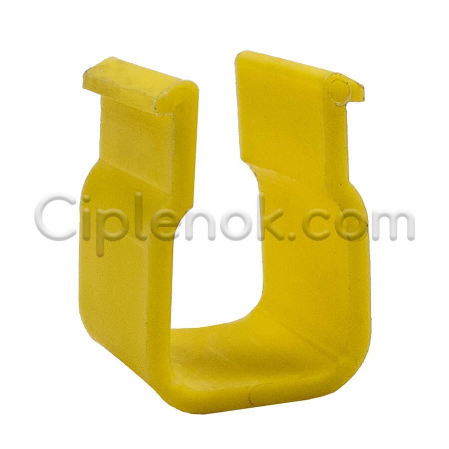 Крепление треугольной трубы жесткости с ПВХ трубой 22х22