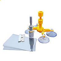 Набор для ремонта трещин лобового стекла Windshield Repair Kit D1001 | комплект для атомобиля