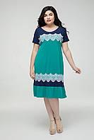 Платье  Аида изумрудный 48-58, фото 1