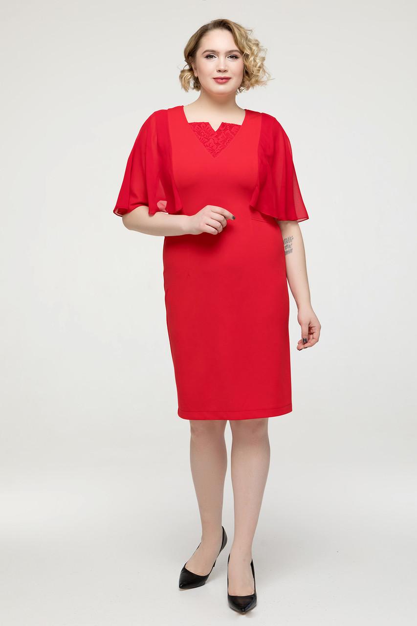 Платье  Яна красный