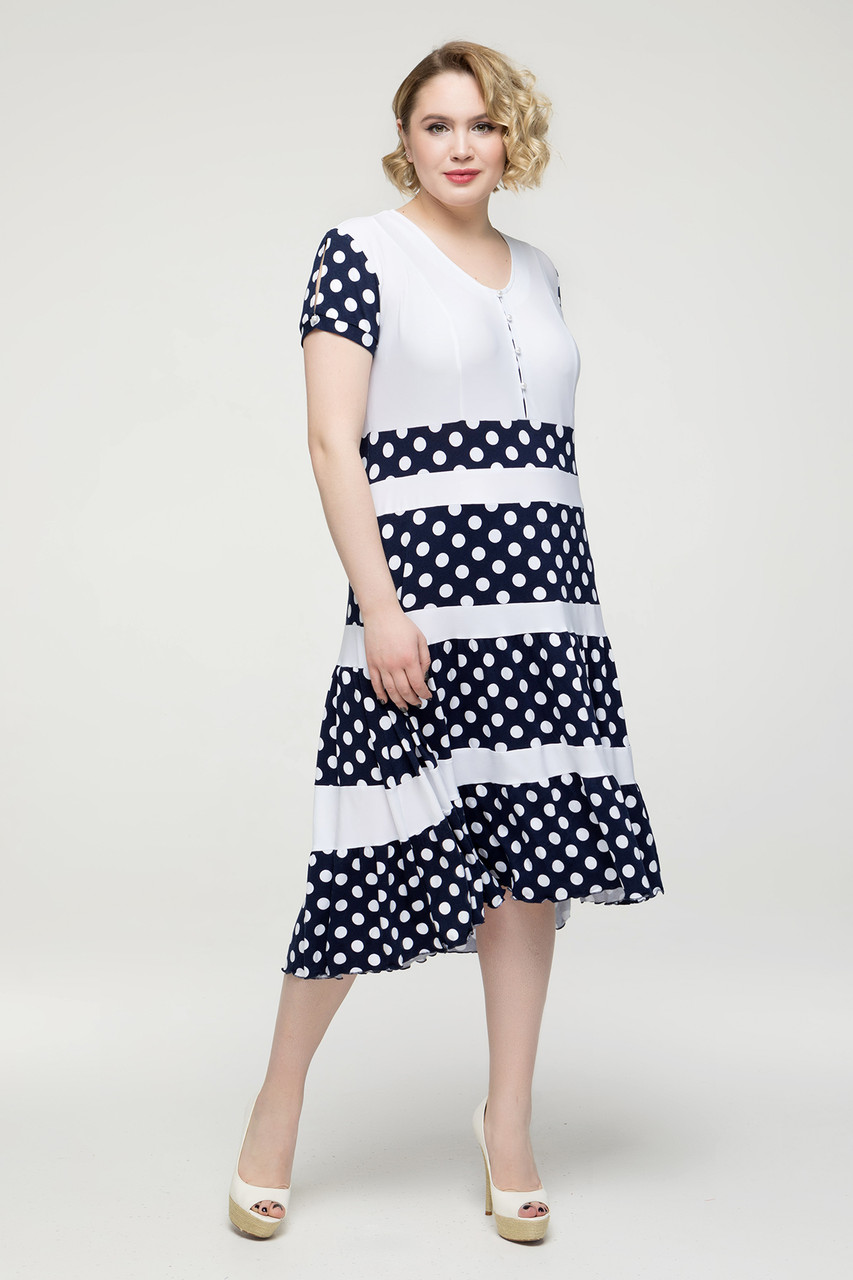 Платье Вишня белый