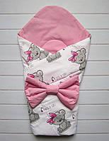 "Летний конверт-одеяло на выписку ""It's a girl!"" 75*75 см"