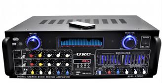 Усилитель мощности звука UKC AMP AV 1800   компактный усилитель звука   усилитель мощности