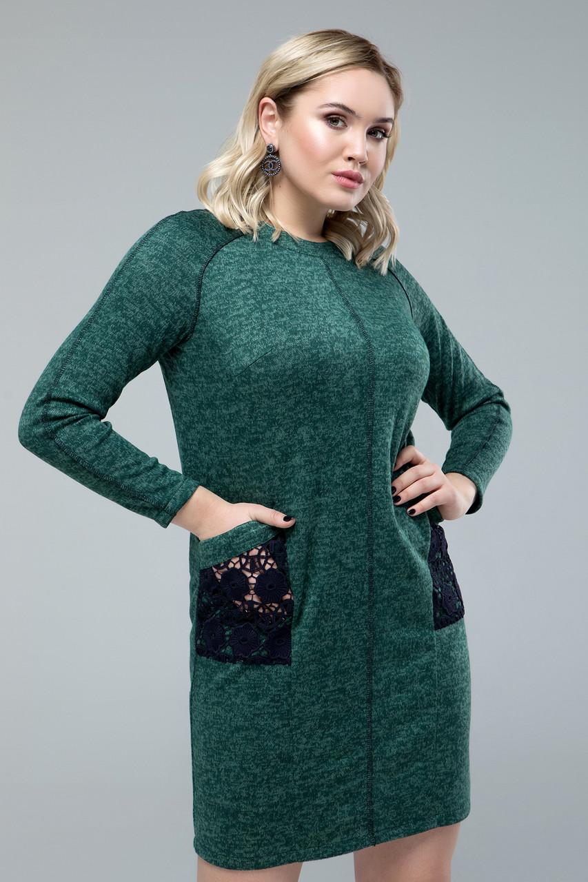 Платье  Ливия изумрудный