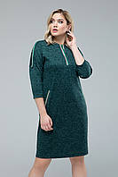 Платье  Лиза+ изумрудный, фото 1
