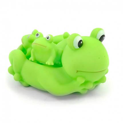 Игрушка для ванной ZT8891 Уточка, пищалка (Лягушки), фото 2