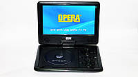 "Портативный  3D  DVD плеер Opera  7,6""+ аккумулятор +TV тюнер+ USB"