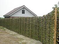 Плетеный забор, плетеный деревянный забор в Украине