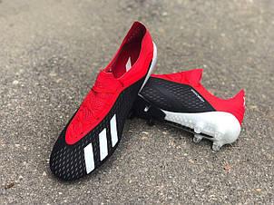 Бутсы для футбола Adidas X 18.1 красно-черные реплика, фото 2