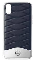 Оригинальный кожаный чехол для iPhone® X Mercedes Cover for iPhone® X, Blue (B66958602)