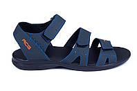 Чоловічі шкіряні босоніжки Nike ACG Blue (репліка)