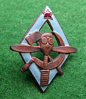 Знак АВИАХИМ 1925-1927 г. томпак , горячая эмаль тип.1, фото 1