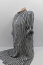 Женская рубашка-платье больших размеров в полоску с длинным рукавом оптом Турция, фото 2