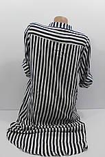 Женская рубашка-платье больших размеров в полоску с длинным рукавом оптом Турция, фото 3