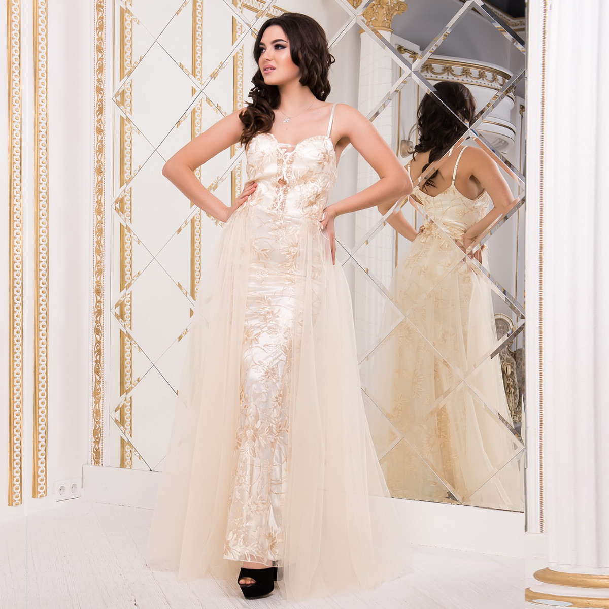 """Шикарне весільне, вечірнє, випускне плаття, плаття на розписку """"Еллі"""""""