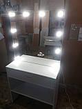 Стіл для гриму з захисним склом на стільниці А209, фото 2