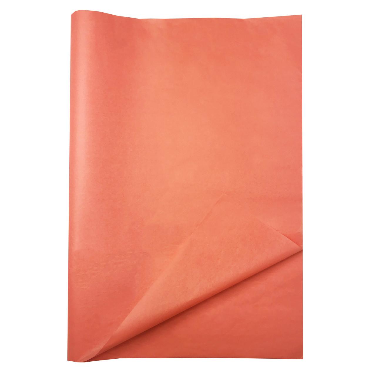 Бумага тишью коралловая 100 листов